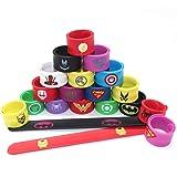 20 Confezione Supereroi Slap Band Braccialetti per feste Band Borsa Snap Bracciali partito Fillers braccialetto per bambini r