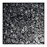 5 kg Marmor-Dekosteine 7/25 mm Marmorkies Dekokies PU-Harz ummantelt Ebano Schwarz