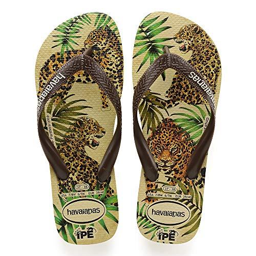 Havaianas Flip-Flops Leopard Ipê, Beige Braun - 39/40
