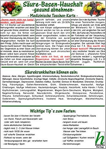 Säure-Basen-Haushalt - gesund abnehmen - Medizinische Taschen-Karten