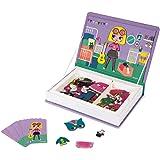Janod- Chicas Juguete Educativo Disfraces Magneti'Book, Multicolor (Juratoys J02718)