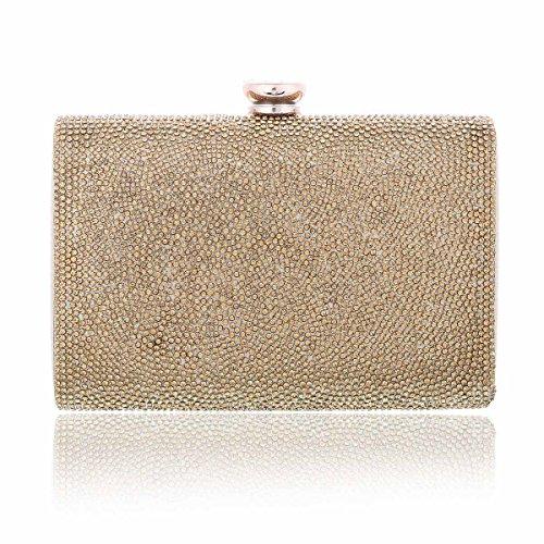Damen Kristall Damara® Gold Schachtel Clutch Unterarmtaschen Hart RdwTq8zwf