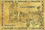 Game of Thrones Poster - Westeros & Essos Karte Antik + Ü-Poster