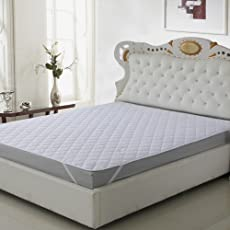 """Craft Jaipur Waterproof &Mattress Protector for King Size Bed 72""""x78"""" with Elastic Bands(White)"""
