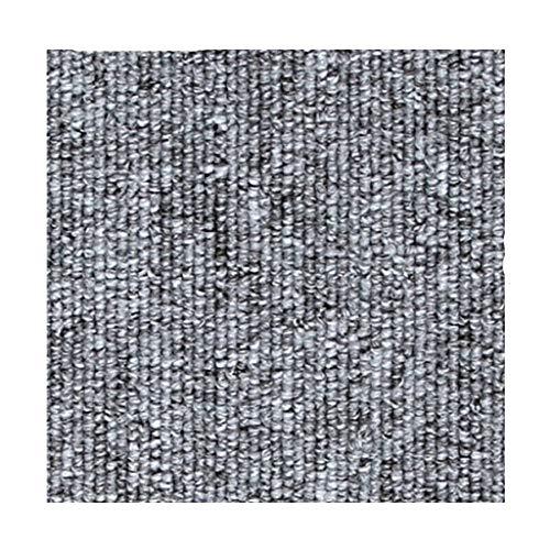 Tyoby Fliesen Büro Teppich Konferenzraum Mosaik volle Fußboden-Wolldecken Schlafzimmer Quadrat Matten(Silber)