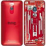 Original HTC Akkudeckel red / rot für HTC One mini M4 (Akkufachdeckel, Batterieabdeckung, Rückseite, Back-Cover) - 83H4000311