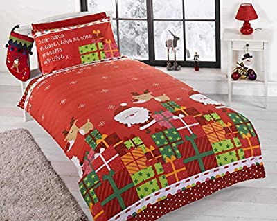 Children's Christmas Duvet Bedding Set Santa wrapped presents