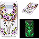 Coque Galaxy S8, BONROY® Samsung Galaxy S8 Housse Luminous Effect Noctilucent Green Glow in the Dark Ultra Mince Souple Gel TPU Bumper Poussiere Resistance Anti-Scratch Coque Housse Pour Samsung Galaxy S8 - Sika Deer