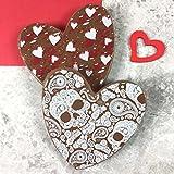 Valentines Chocolate Hearts with Hearts & Skulls