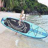 WEII Aufblasbares Surfbrett Professionelle stehende Wasserskis Aqua Yoga Paddel Sup Board,Blau,Einheitsgröße