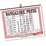 THE BANGALORE PRESS English Calendars (Combination of Standard Wall Calendar,Table Calendar English and Office Date Block)