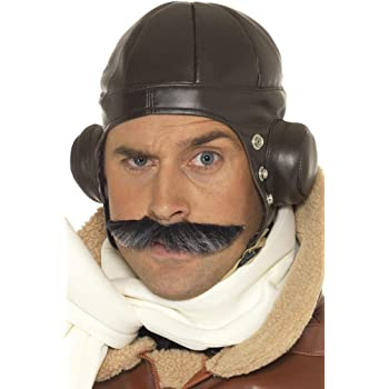Berretto da aviatore in finto cuoio cappuccio copricapo pilota ... a59825b23d64