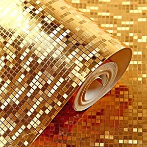 Hanmero Moderne Luxus Tapete, Blattgold farbenfrohe