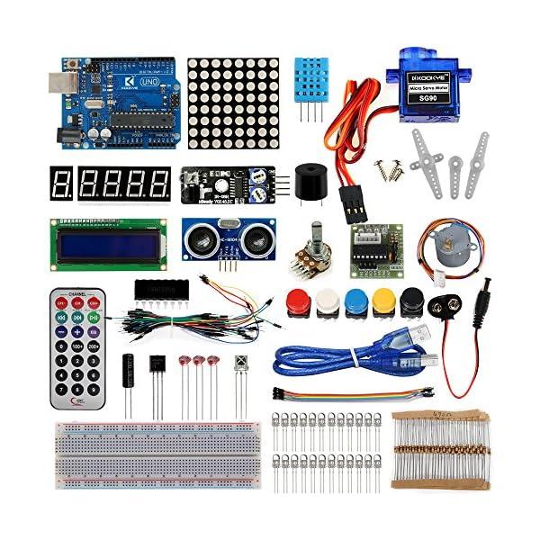 6111xhT1ZqL. SS600  - KOOKYE Uno R3 ATmega328 completo kit de arranque para Arduino con 19 proyectos