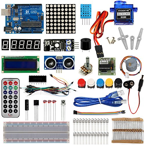6111xhT1ZqL - KOOKYE Uno R3 ATmega328 completo kit de arranque para Arduino con 19 proyectos