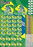 Die besten Bücher über Brazils - INDIGOS UG Namensaufkleber/Sticker - A4-Bogen - Land Brazil Bewertungen
