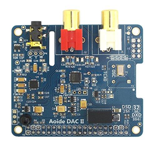 DollaTek Tarjeta de Sonido DAC II HiFi   ES9018K2M   384 kHz / 32 bits   High-Resolutio   Formato DSD Compatible   para Raspberry Pi 3 Modelo B / 3B / 2B