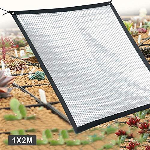 Ridecle Sonnenschutz Sonnenschutznetz Reflektierende Aluminiumfolie Netzrahmen Kordelzug Schatten Segel Wärmeisolierung Insektenschutz UV-Kühlvorhang (Sonnenschutz Schatten)