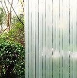 Concus-T Static Cling vinile premio Frosted Stripes Privacy Window Film vetro che copre autoadesivo della pellicola 90*300cm