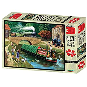 Kevin Walsh kw10016Rail y Canal Super 3D Puzzles (500Unidades)