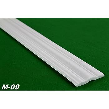 2 Meter Flachprofil Styroporleiste Wandleiste Dekor Stuck 9x58mm M