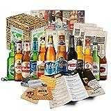 """""""BIERE DER WELT"""" (12 Flaschen) Geschenkidee für Männer INKL. Bierdeckel + Geschenkkarton + Bier-Info. Biergeschenk für Männer oder als ausgefallene Geschenke für den Freund. Die perfekte Geschenkidee für Männer"""