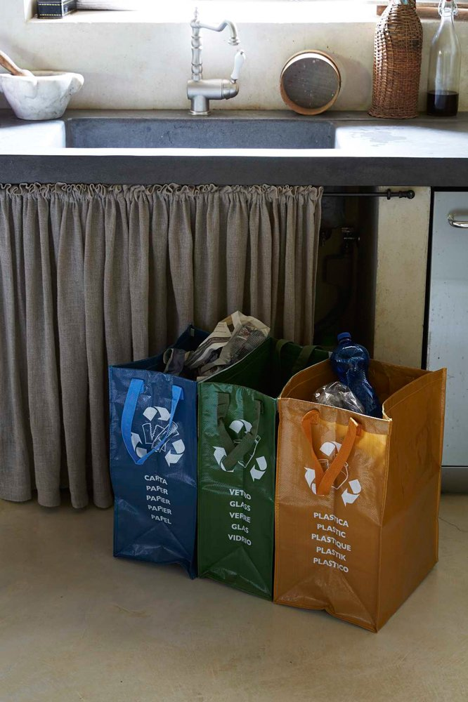Super Perfetto Contenitore 3 Scomparti Ricicla Bag: Amazon.it: Casa e cucina VB03