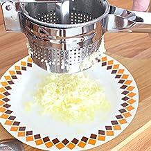 Anpro Kartoffelpresse mit dem großen Fassungsvermögen für Kartoffelpüree, Obstsäfte, Gemüsebrei aus Edelstahl