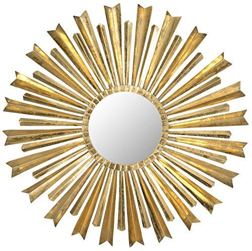 Safavieh Rigel Spiegel, Metall, Antique Gold, 83 x 83 x 2.54 cm -