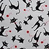 Textiles français Baumwollstoff | Die Schwarze Katze |