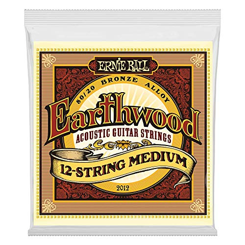 Ernie Ball Earthwood Medium 12-Saiter 80/20 Bronze Akustikgitarre Saiten - 11-28 Gauge