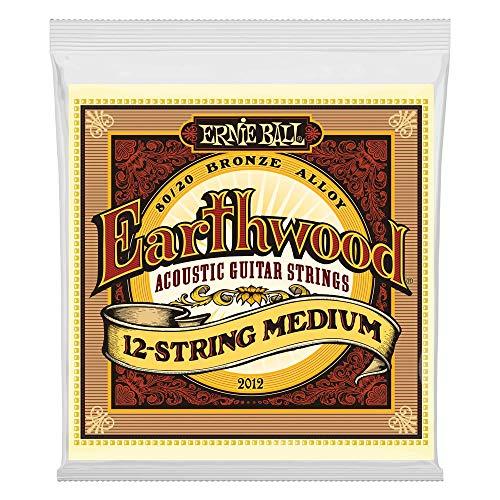 Ernie Ball Earthwood Medium 12-Saiter 80/20 Bronze Akustikgitarre Saiten - 11-28 Gauge -