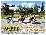 DeliaWinterfel WL v911 4-Kanal 2.4ghz Mini, Funk, Einfacher Propeller, RC, Helikopter, Kreisel v911 by
