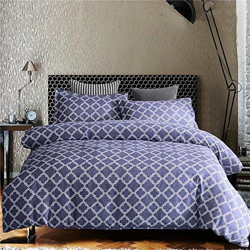 NTBED Geometrische Abstrakt Home Bettwäsche Bettdecke Bezug Doppelbett Größe Kissenbezug Bettwäsche Set, blau, Doppelbett