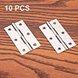 10 pcs acero inoxidable Home muebles Hardware Puerta Bisagra largo 55 mm x 34 mm