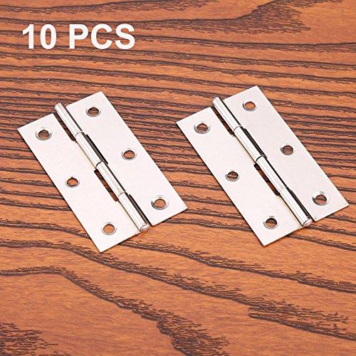 10 PCS Edelstahl Home Möbel Hardware Tür Scharnier Lange 55 mm x 34 mm - Möbel-hardware-scharniere