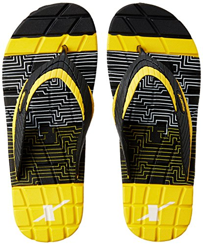 Sparx Men's Black and Yellow Flip Flops Thong Sandals - 6 UK/India (39.33 EU)(SF2055GBKYL)  available at amazon for Rs.220