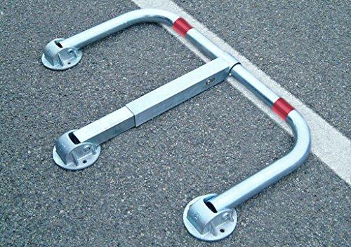 ARCO SRL 3-Fuß-Standard-Parkbügel - Parkplatzsperre, umlegbar mit Zylinderschloß, ARS480