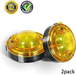 Auto Außen Led Blinkende Gelbe Notsignal Warnleuchte Straßenfackeln Fahrzeugleuchte Beacon Super Magnetic Adsorption Verhindern Von Unfall Am Straßenrand Sicherheit Notfall Led Lampe Gelb 2 Pack Auto