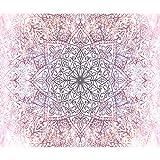decomonkey | Fototapete Mandala 350x256 cm XL | Tapete | Wandbild | Wandbild | Bild | Fototapeten | Tapeten | Wandtapete | Wanddeko | Wandtapete | Orient Muster Ornament weiß rosa