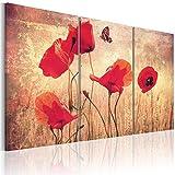 murando Quadro 120x80 cm 3 Pezzi Stampa su Tela in TNT XXL Immagini Moderni Murale Fotografia Grafica Decorazione da Parete Fiori 030110-4