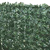 True Products Artificial Screening Ivy Leaf Hedge Panels On Roll Privacy Garden Fence 1m x 3m, Green