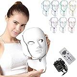NBD® masker met 7 kleuren LED lichttherapie-masker met hals, gezichtsverzorging, huidverjonger, fototherapie, behandeling van