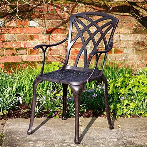 Lazy Susan – ALICE 120 cm Runder Gartentisch mit 4 Stühlen - 7