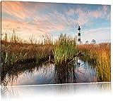 Leuchtturm, Bild auf Leinwand, XXL riesige Bilder fertig gerahmt mit Keilrahmen, Kunstdruck auf Wandbild mit Rahmen, günstiger als Gemälde oder Ölbild, kein Poster oder Plakat, Format:60x40 cm