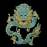 1pieces Grosser Drache Design Stickerei Ethnische Stil Stoff Flicken Sew auf Scrapbooking Nähen Zubehör für Jacke