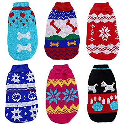 Soft Cute 6 sizes DOG Cat Puppy Pet Knitted Jumper Sweater Coat Hoodie Outwear