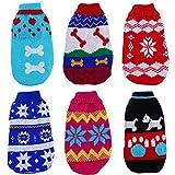 Kaigeli888 Lot de 6pulls tricotés pour chien ou chat