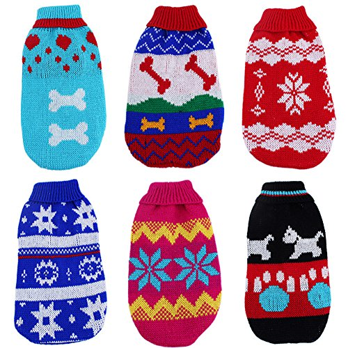 Lovely Puppy Pet's Warm Clothes Cat Dog's Cute Clothes Sweater Knitted Coat 6 Sizes New