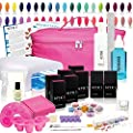NYK1 Elite UV Shellac Gel Nail Kit - You Choose Your UV/LED Colours includes Top & Base, Carry Case and FULL Professional Step-by-Step Instructions and ALL Essential Accessories